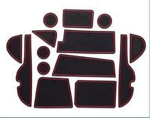 Автомобиль Внутренний Groove ворота Слот подлокотник хранения Резиновые Нескользящие коврики коврик палкой двери колодки/чашки 14 шт. для Toyota Новый RAV4 2016 2017 2018