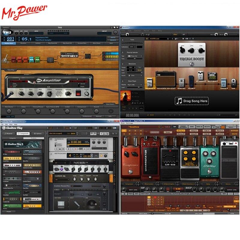 Uteck Guitare Cube ASIO Corde USB interface audio (DI) idéal pour Doux (Guitar Rig JAMVOX AmpITube) 240 B - 6