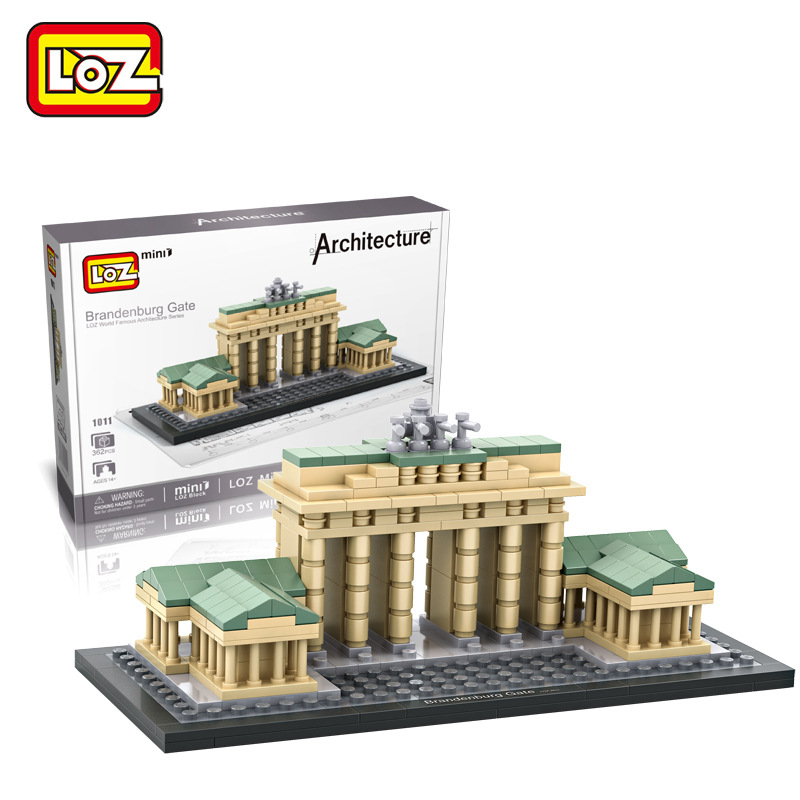 362pcs New Brandenburg Gate LOZ World Famous Architecture Series DIY Assembled Building Blocks DIY Nano Bricks Toys For Children