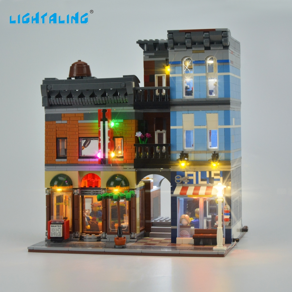 Lightaling LED Light Kit para Creator Expert Detective's Office 10246 Light Set Compatible con 15011 (NO incluye el modelo)