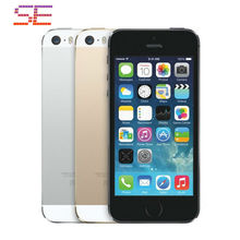 "Original Apple iPhone 5S 16GB/32GB/64GB Unlocked Mobile Phone Dual-Core 1.3GHz IOS 9 4.0"" 8MP 1080P Siri WIFI GPS 3G Cell Phones"