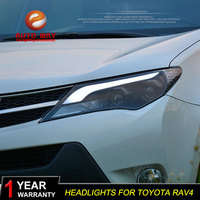 Car Styling Case For Toyata RAV4 headlights 2014 2016 Toyata RAV4 led headlight Head Lamp led drl projector headlight H7 hid