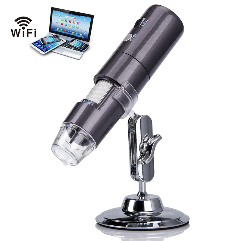 Lerbyee Numérique Microscope Wifi Endoscope 50x-1000x Grossissement 8 LED Mini Caméra 1080 P HD Microscope pour ISO Android Tablet