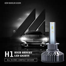 Car LED Headlight Bulbs H1 H7 H4 H11 H8 9005 9006 9012 40W 8000LM 6500K 12V ZES Automobile Headlamp Fog Lights Styling