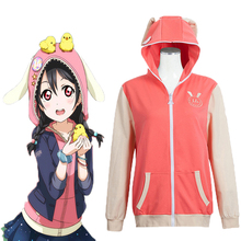 цены на Anime Love Live! Hoodies Animal Cosplay Costume Yazawa Niko Cosplay Costumes Sweatshirt Casual Coat Halloween Carnival Women  в интернет-магазинах