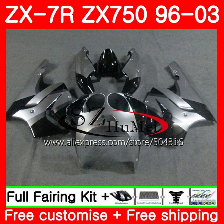 93 94 95 KAWASAKI ZX-7 ZX7 ZX-7R ZX7R BLACK COMPLETE FAIRING BOLTS SCREWS KIT US
