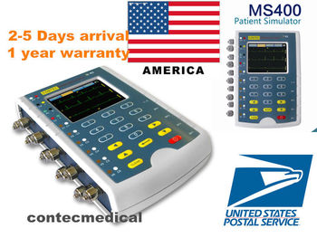 Contec Manufacturer shipping, MS400 Multi Parameter Patient Simulator ECG IBP Temperature Patient Simulator