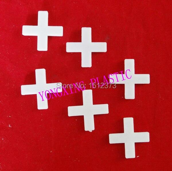 500pcs/bag 8.0mm Plastic Cross/ Tice Spacer/tracker/locating/ceramic Cross  White Color Locate The Ceramic Tile