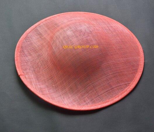 Розовый коралл sinamay база с 1,3 см атласные головные ободки повязки для головной убор sinamay шляпа для Кентукки Дерби, свадьба, Мельбурн чашка