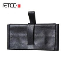 купить AETOO Leather handmade long wallet cowhide mobile phone bag по цене 2699.9 рублей