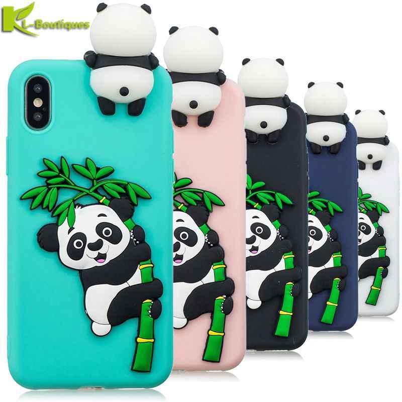 Чехол для iPhone XS, 3D мультяшная панда, Мягкий ТПУ силиконовый чехол для телефона, для iPhone XS Max XR XS X 5 5S 6 6S 7 8 Plus, Fundas