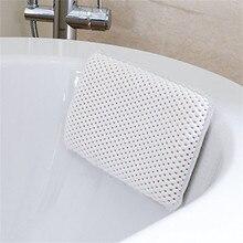 29*20cm Luxury SPA Bath Pillow Home Bathtub Pillow PVC Neck Bathtub Cushion Soft Headrest Suction Cups Bathtub Pillow Accessory
