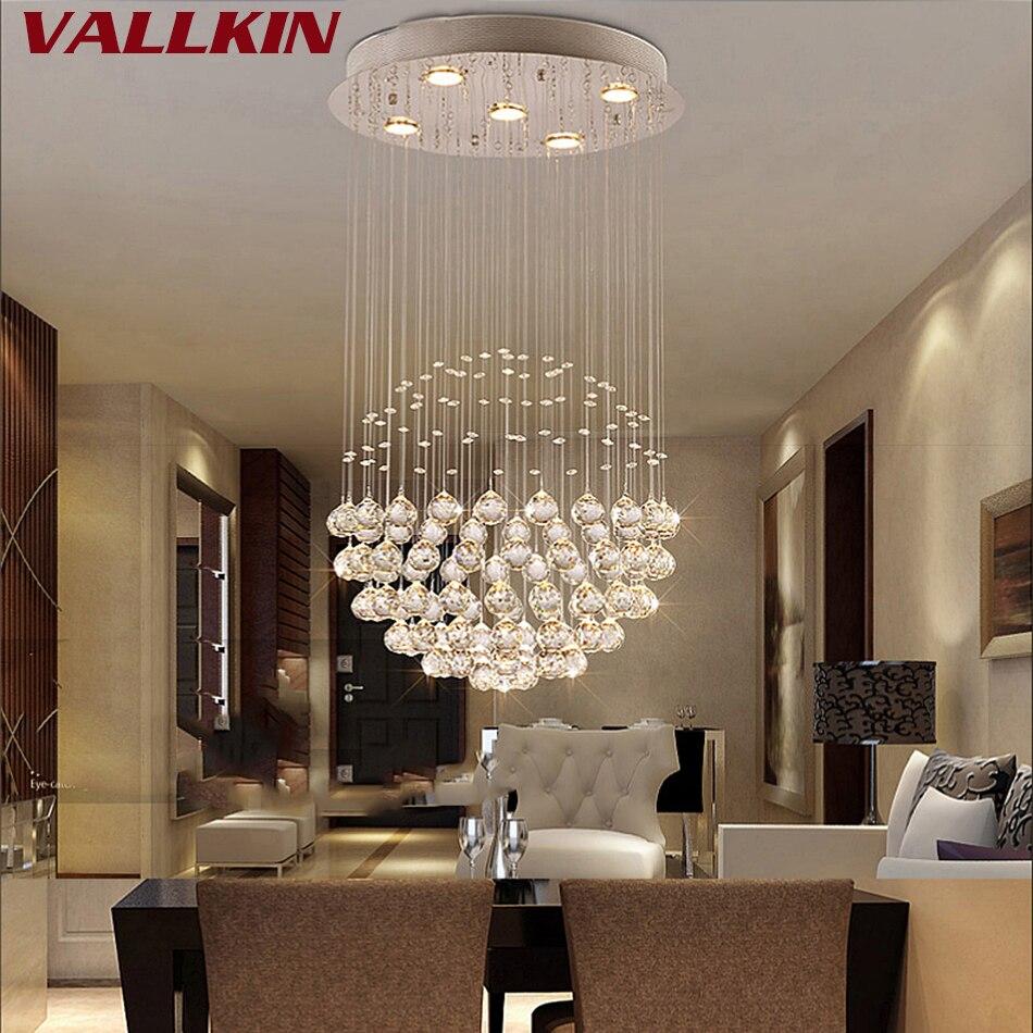 Moderne Grand Cristal Lustres Luminaire pour Hall Escalier Lustre En Cristal Longue Spirale Lumière Lustre Plafond Lampe