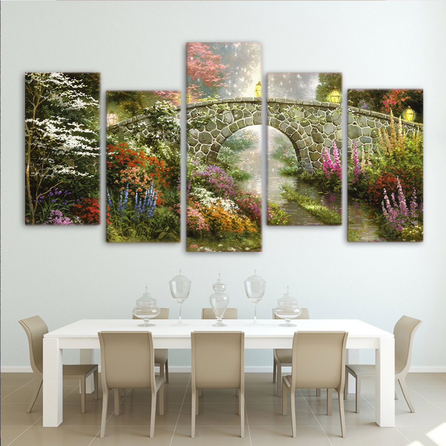 5D DIY Diamond Painting Bridge Nature Scenery Diamond Embroidery Full Square Diamond Stitch Cross Rhinestone Mosaic