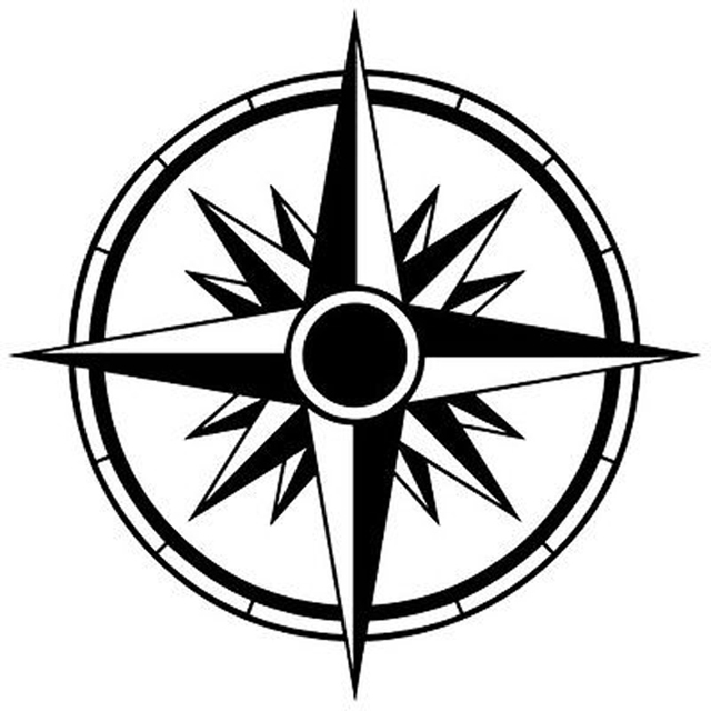 14cm14cm tribal compass rose nautical star car sticker black silver vinyl decal s6