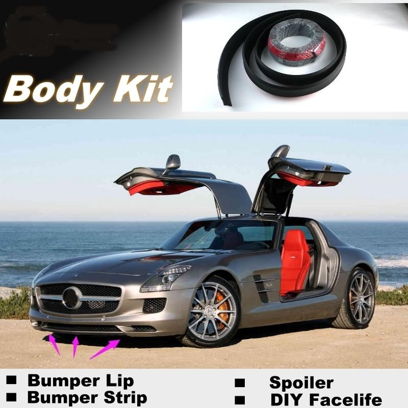 NOVOVISU Bumper Lips For Mercedes Benz SLS AMG / Top Gear Shop Spoiler For Car Tuning / Recommend Body Kit + Strip