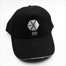 YOUPOP K-pop sombrero EXO de EXO planeta álbum nueva moda negro clásico de  la gorra de béisbol de hip-hop tapa de las mujeres de. 39f60a95717