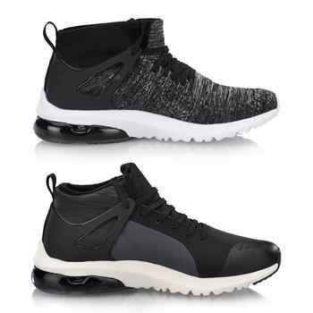Li-Ning Men BUBBLE UP II MID Stylish Lifestyle Shoes Mono Yarn Breathable LiNing li ning Sport Shoes Sneakers AGLN119 YXB236
