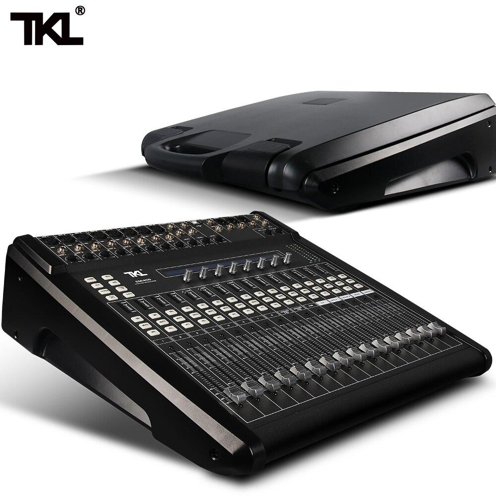 TKL 14 Channels Digital Mixer Professional DJ Sound Mixer Audio Belt Effect Mechanical Pusher Preset Scene For Stage HIFI DJ