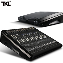 TKL 14 Channels Digital Mixer Professional DJ Sound Mixer Audio Belt Effect Mechanical Pusher Preset Scene For Stage HIFI DJ стоимость