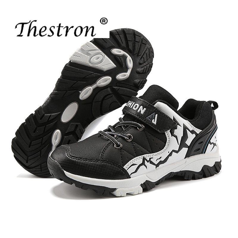 2019 Thestron Fashion Sport Boys Shoes Footwear Outdoor Safety Brand Shoe Boys Hiking Anti slip Comfordable Sneakers Boys Spring in Hiking Shoes from Sports Entertainment