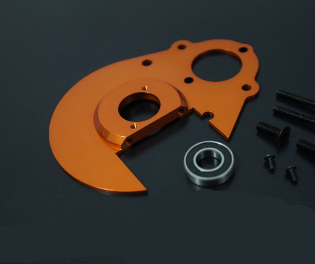 Baja upgrade parts CNC alloy Gear plate set fit hpi rovan baja 5b free shipping upgrade parts hanging battery haeundae and extended mounting plate