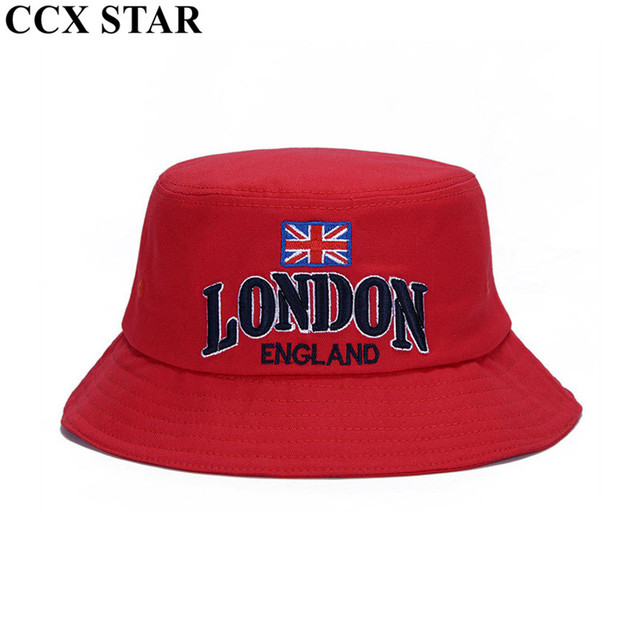 CCX STAR UK Flag Letter Embroidered Bucket Hat Fisherman Hats Men Women  Outdoor Hip Hop Dancer Panama Hat b004792ad5f