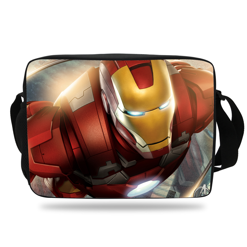 2017 Hot Sale Children Cartoon Messenger Bag IronMan Shoulder Bag Kids  Shoulder Messenger Bags For School Girls Boys Teenagers