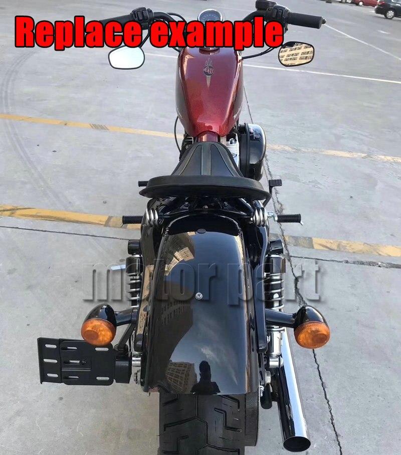 Adjustable Side Mount License Plate Frame Holder Bracket Wih LED Light For Harley Sportster XL 883