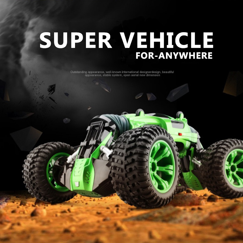 2.4G RC car 4WD Radio Control Truck RC Buggy High speed off-road Dual mode transform Reversible flexible driving FREE SHIPPING new 7 2v 16v 320a high voltage esc brushed speed controller rc car truck buggy boat hot selling