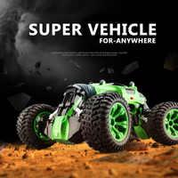 2.4G carro RC 4WD Caminhão Buggy RC do Controle de Rádio de Alta velocidade off-road Dual mode transformar Reversível flexível condução