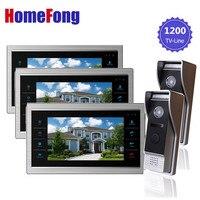YSECU 7 Inch Video Doorphone Doorbell Intercom System Waterproof Door Access Control Ring Video Doorbell 2V3