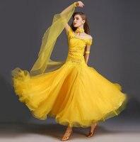 Exquisite luxury rhinethone ballroom dance dresses standard ballroom dancing clothes Competition standard dance dress waltz