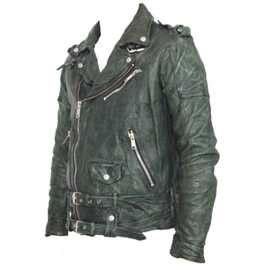 Image 5 - Maplesteed vintage curtido jaqueta de couro preto vermelho verde fino casaco de couro inverno jaqueta motociclo moto motociclista roupas 145