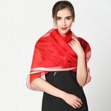 Luxury Women Fashion Natural Silk Scarf Shawl Female Pure Silk Scarves Wraps Thin models Shawls Long Beach Cover-ups 200*90cm
