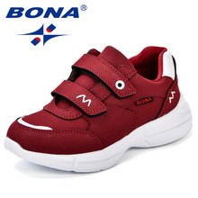 Girls Sneakers Shoes BONA Spring Autumn Boys Breathable Kids Fashion Children New And