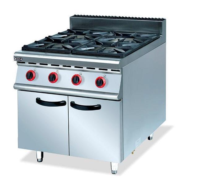 Commerciale eccellente qualità in acciaio inox gas 4 bruciatori ...