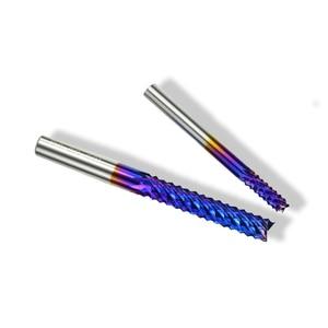 Image 4 - XCAN 1pc 4 millimetri/6 millimetri Gambo In Carburo di Tungsteno End di Fresatura Bit Nano Blu Rivestito End Mill per macchina per incisione PCB Fresa