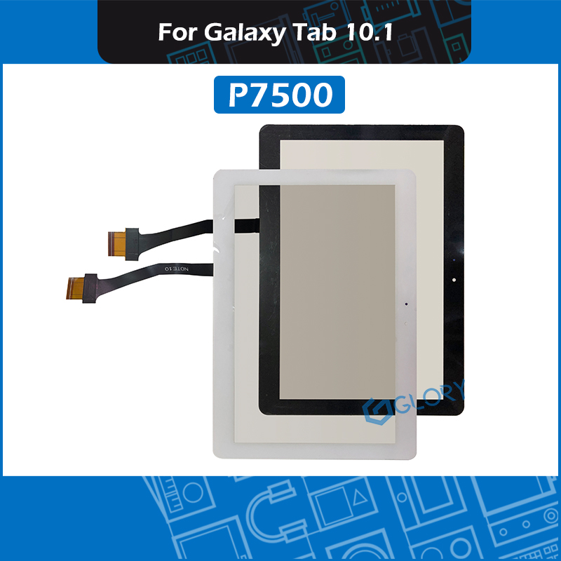 New P7500 Touch Screen Glass Panel For Samsung Galaxy Tab 10.1 GT-P7500 Digitizer Sensor LCD Front GlassReplacement