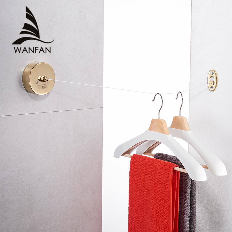 Bathroom Shelves Stainless Steel Clothesline Nice Quality Single Line Hotel Style Clothes Drying Line For Bathroom HJ-1256