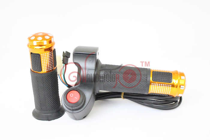 NEW! 24V 36V 48V 60V 72V Ebike LED Digital Meter Twist Speed Throttle Accelerator With Electric Power Switch Handlebar Grip