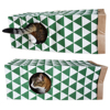 Petforu Folding Portable Cat Tunnel Creative Pet Kitten Cat Play Toy Tunnel - Green + White 3