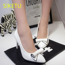 SIKETU 2017 Free shipping Spring and autumn Women shoes sex High heels shoes Wedding shoes sweet lovely pumps  g126