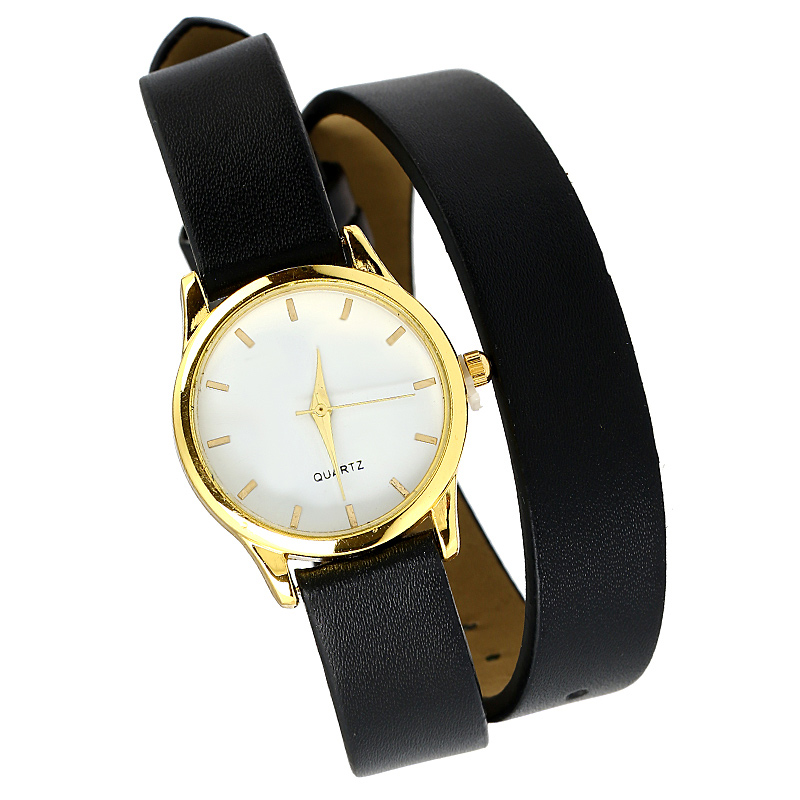 Gnova Platinum Top Black Strap Women Bracelet Watch Golden Wristwatch Girl PU Leather Fashion Relogio Dropship Classic Clock bamboo creative chinese restaurant pendant lights bedroom living room japanese bamboo southeast pendant lamp zs69