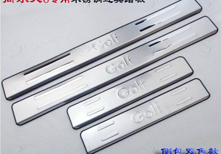 Высококачественная нержавеющая сталь скребок/порога подходит для 2010-2012 Гольф 6 стайлинга автомобилей