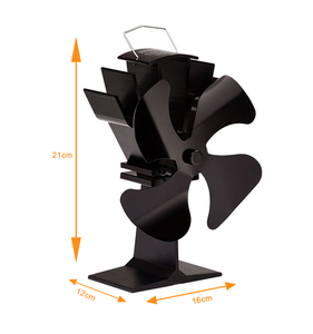 Image 2 - 4 Blades Heat Powered Stove Fan With Thermometer Home Silent Fireplace Fan For Wood/Log Burner/Fireplace Efficient Eco Stove Fan