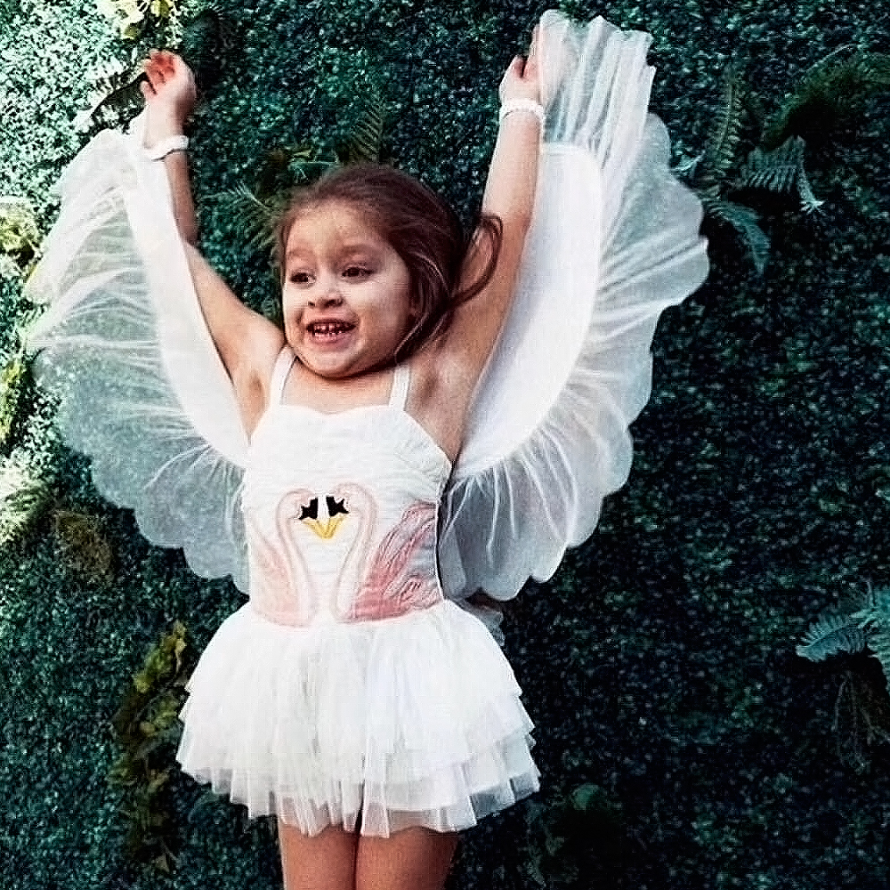 2018 Girl Summer dress Flamingo baby kids Removable Angel Wings dresses white sleevesless clothes swan dress Party garment женская куртка every girl is an angel xz123