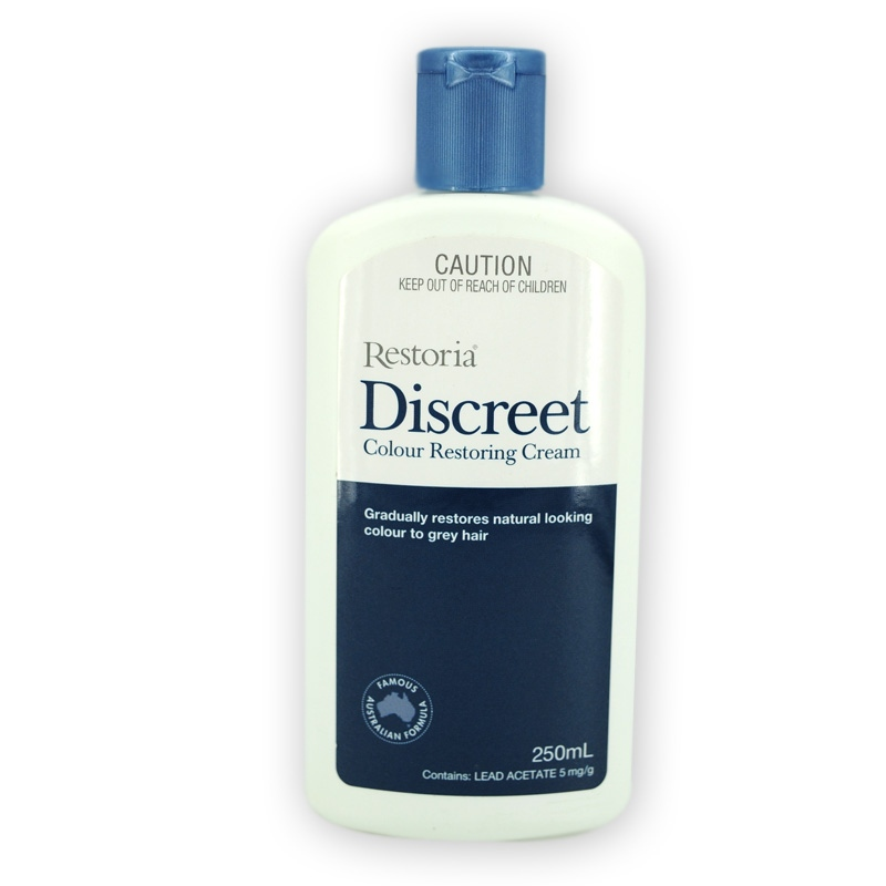 Restoria Discreet Colour Restoring Cream/ Lotion, Hair Care 250ml Grey Hair Treatment Reduce Grey Hair - Suitable for Men &Women 3
