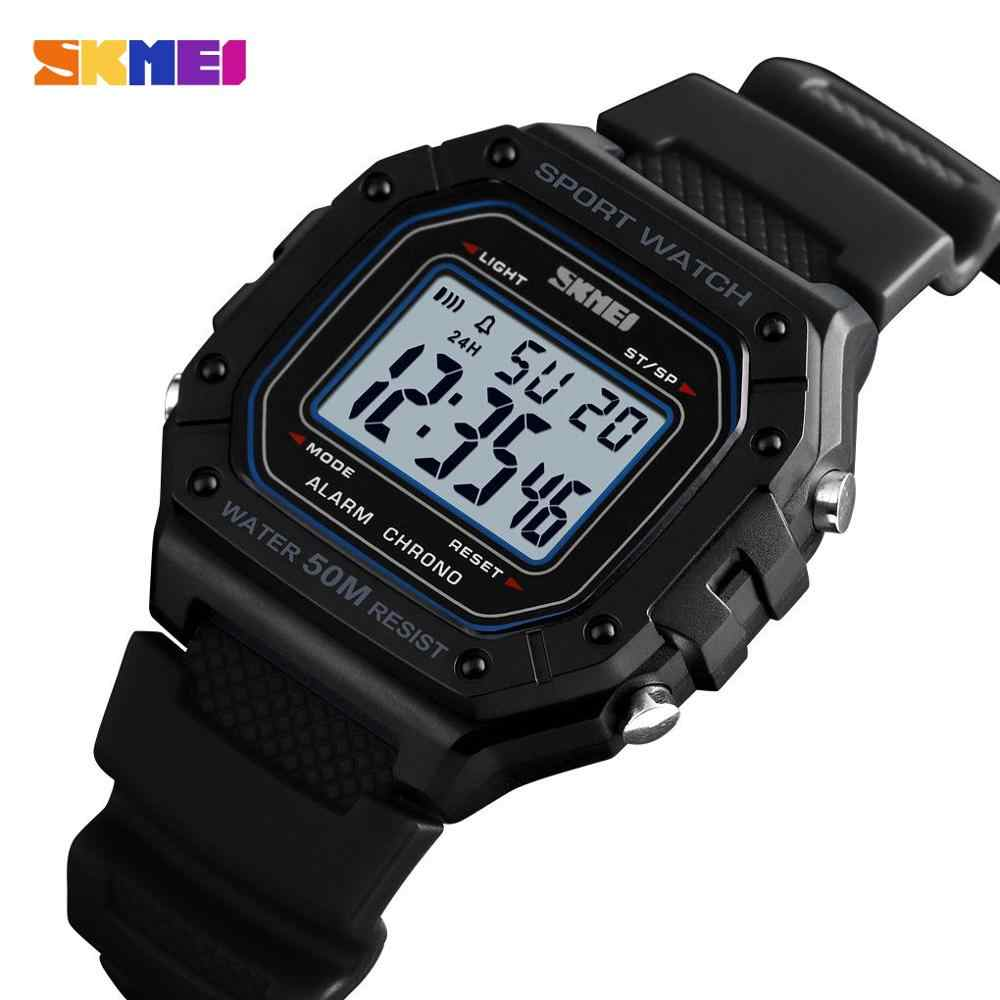 SKMEI Outdoor Sport Watch Men Digital Watches 5Bar Waterproof Alarm Clock Fashion Military Men Digital Watch montre homme 1496