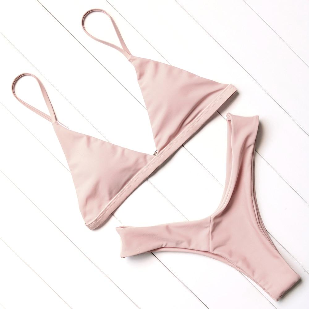 OMKAGI Sexy Bikini 2019 Swimsuit Swimwear Women Biquini Push Up Bikini Set Swimming Bathing Suit Beachwear Maillot De Bain Femme 2